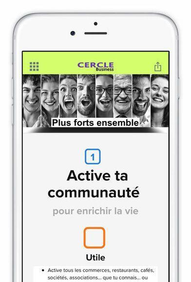iphone cercle business accueil application